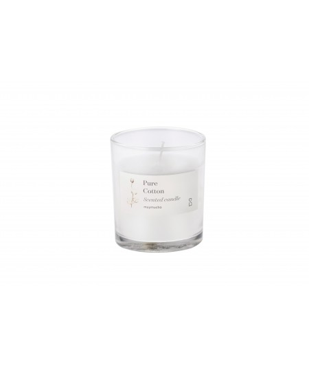 VASO VELA 8x9CM BLANCA PURE COTTON