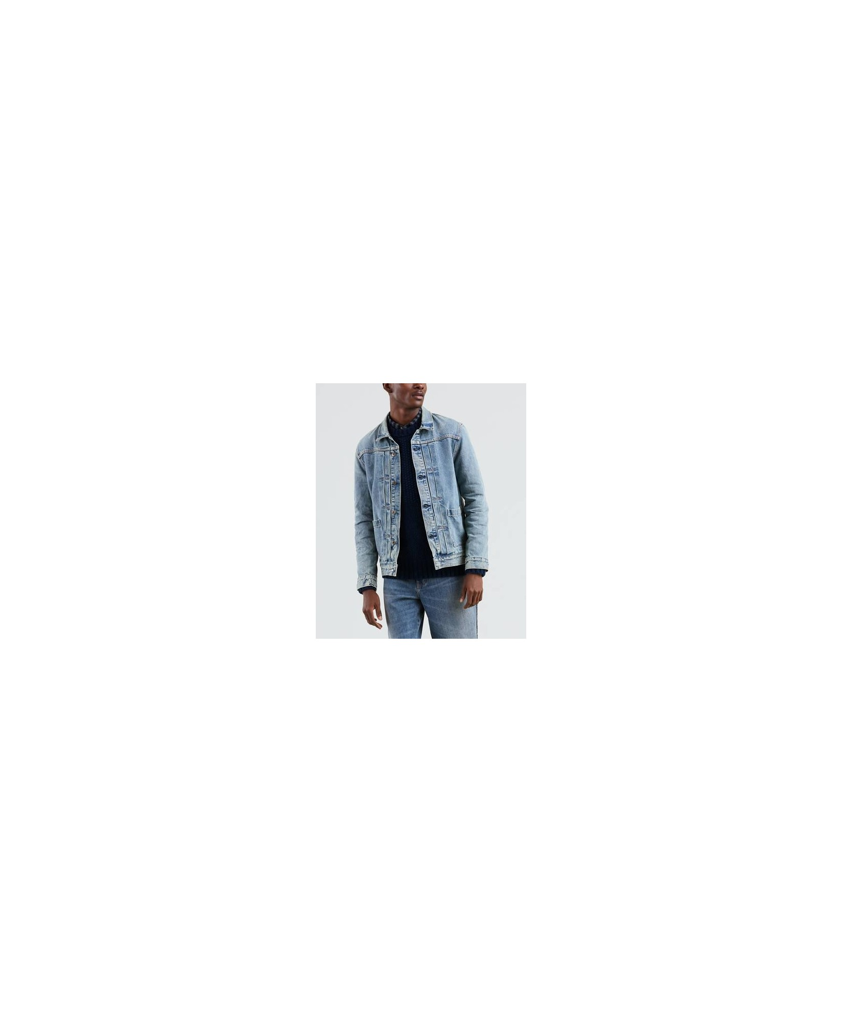 LEVI'S MADE &CRAFTED TYPE II WOORN TRUCKER JACKET LEVI'S MADE &CRAFTED TYPE II WOORN TRUCKER JACKET