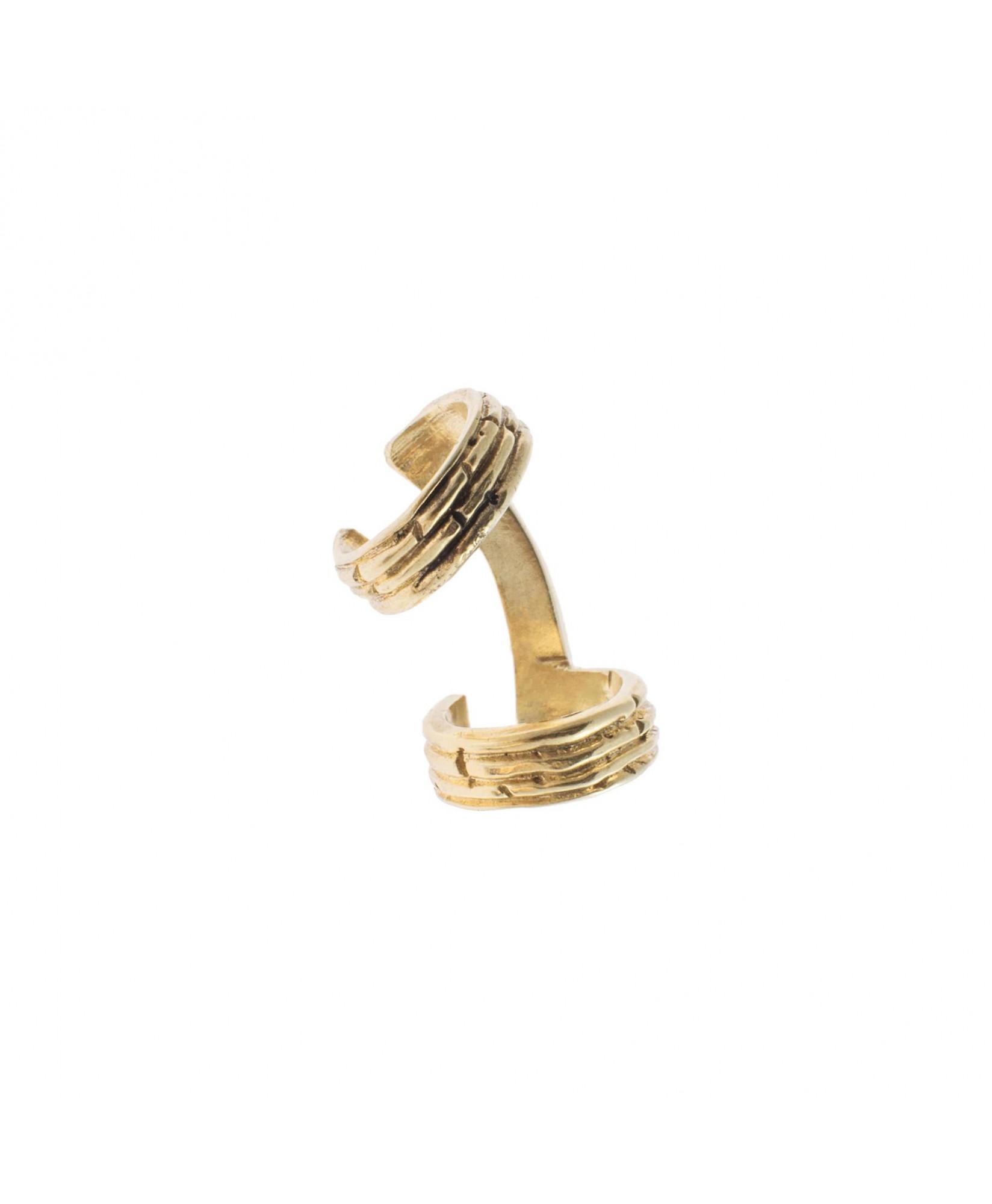 Ear cuff doble oro Luna