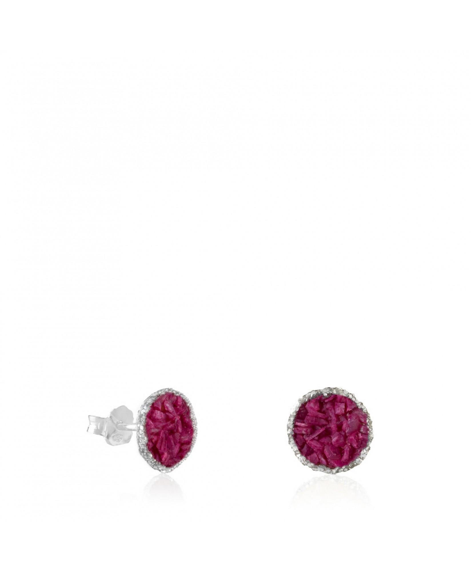 Dormilonas plata medianas Buganvilla con nácar rosa morado Dormilonas plata medianas Buganvilla con nácar rosa morado
