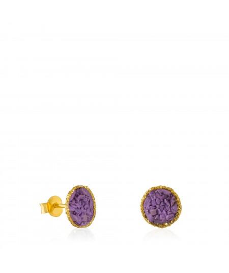 Dormilonas oro Venus con nácar violeta tamaño mediano