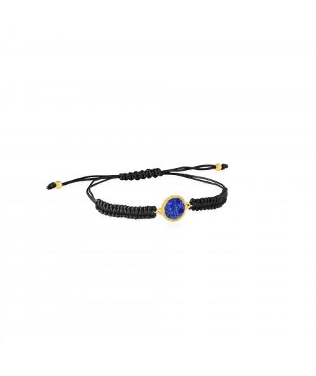 Pulsera de cordón y oro Klein con nácar azul