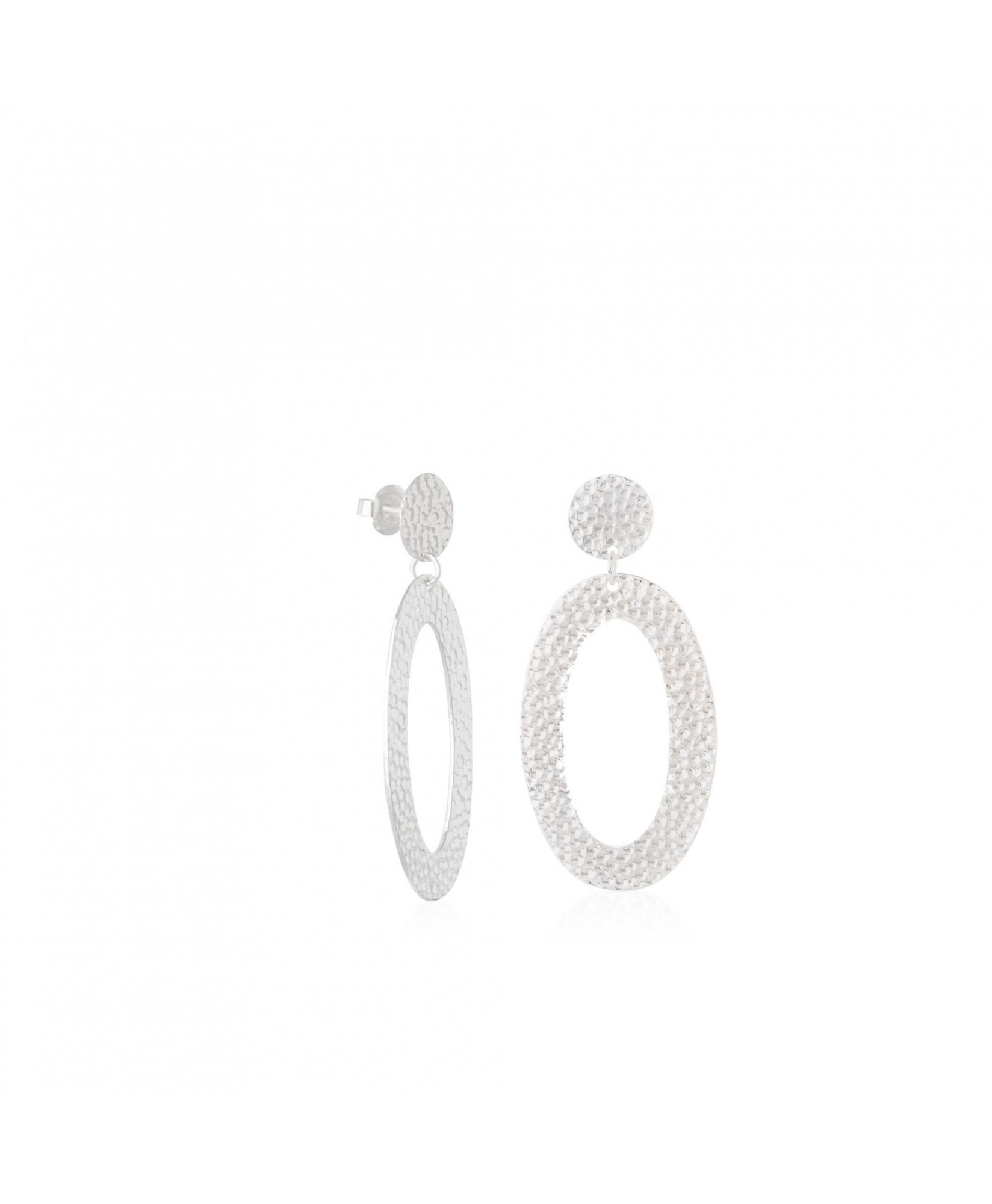Pendientes ovalados de plata Asteria Pendientes ovalados de plata Asteria