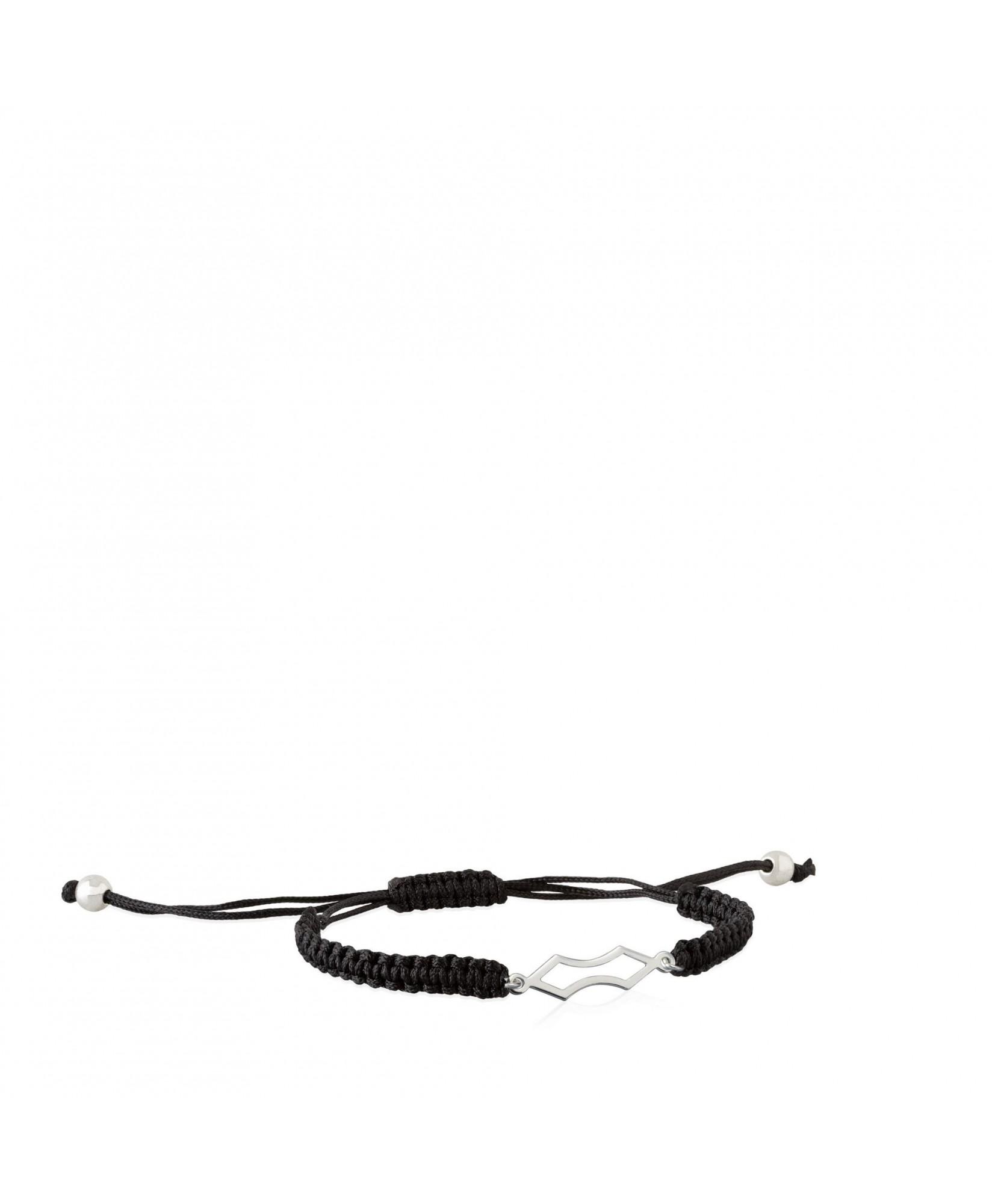 Pulsera de cordón y plata Fuego con forma de lanza Pulsera de cordón y plata Fuego con forma de lanza