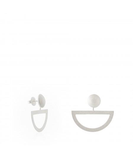 Pendientes de plata Balancín en forma de medio aro