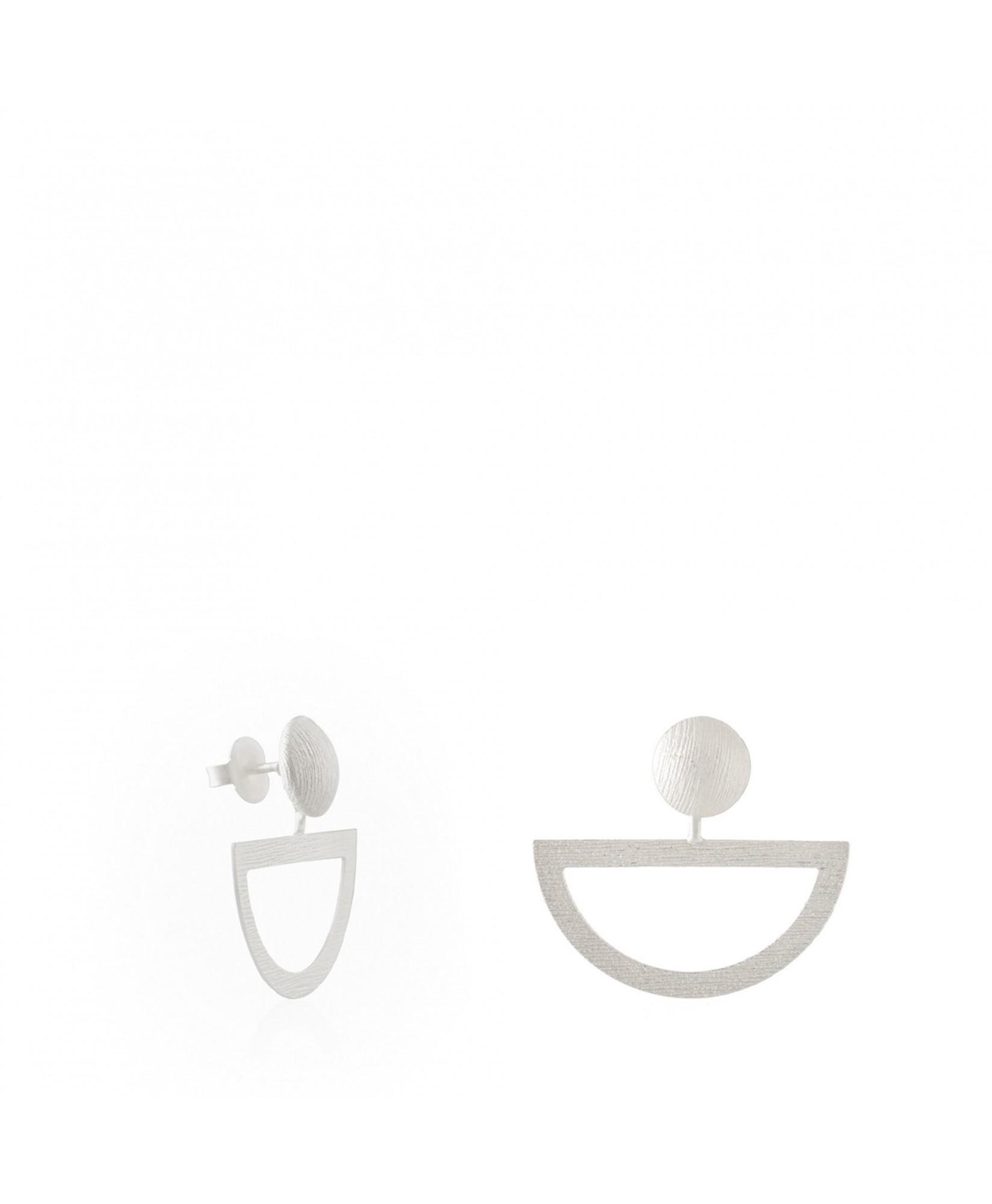 Pendientes de plata Balancín en forma de medio aro Pendientes de plata Balancín en forma de medio aro