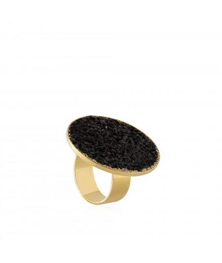Anillo oro Nix con nácar negro