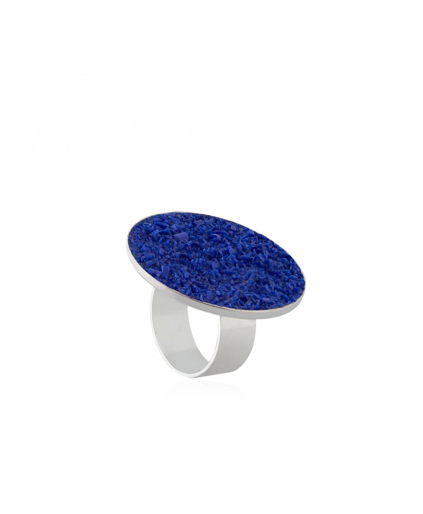 Anillo de plata Selene con nácar azul Anillo de plata Selene con nácar azul