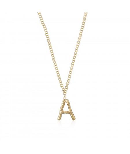 Collar letra A oro