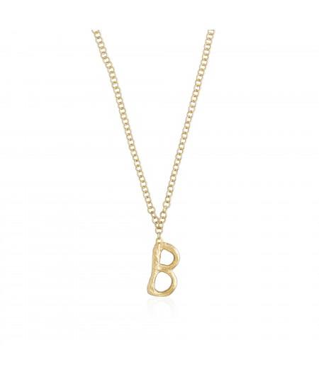 Collar letra oro B