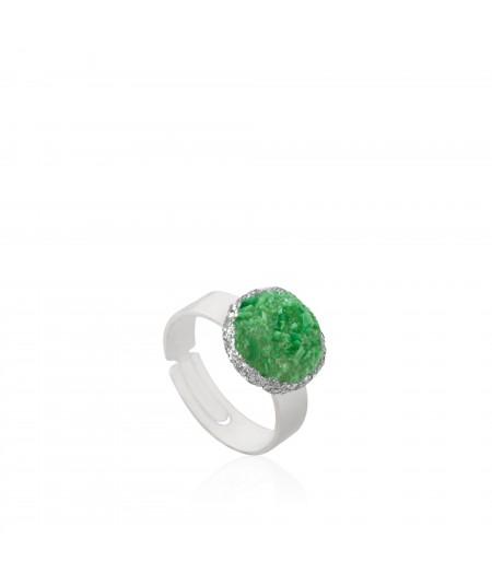 Anillo plata Grass con nácar verde