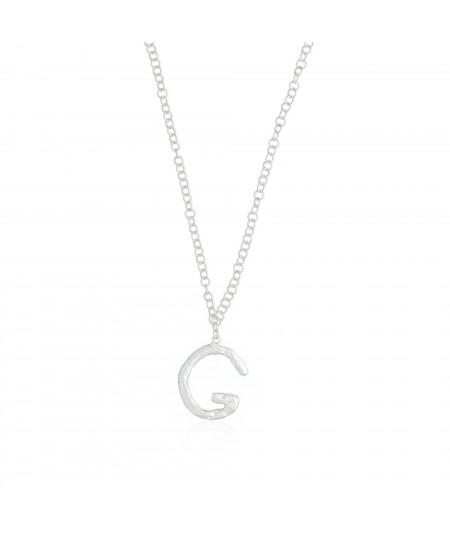 Collar letra G plata