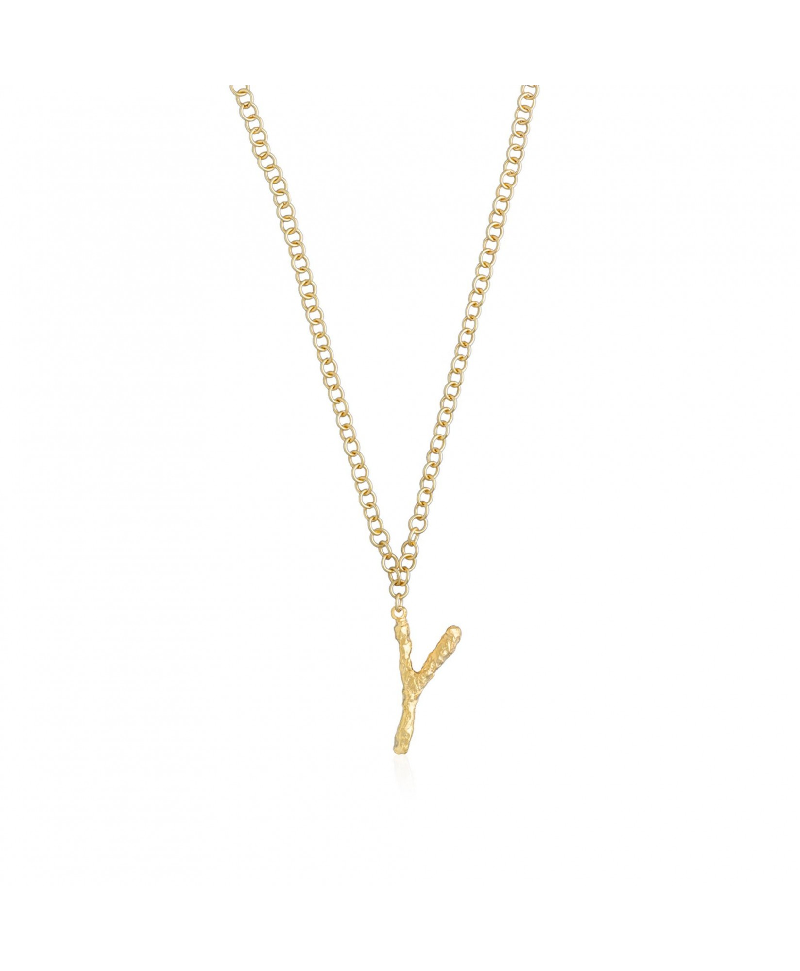 Collar con colgante inicial oro Y Collar con colgante inicial oro Y