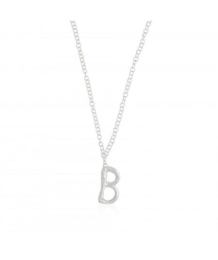 Collar plata letra B