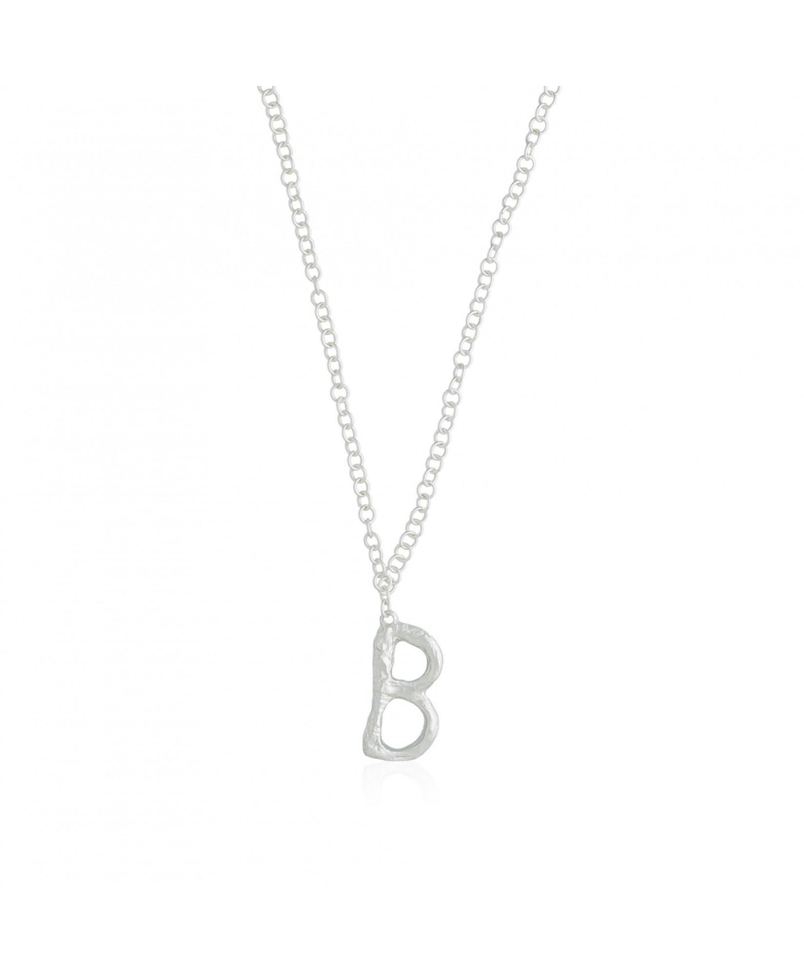 Collar plata letra B Collar plata letra B