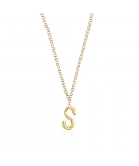 Collar letra S oro