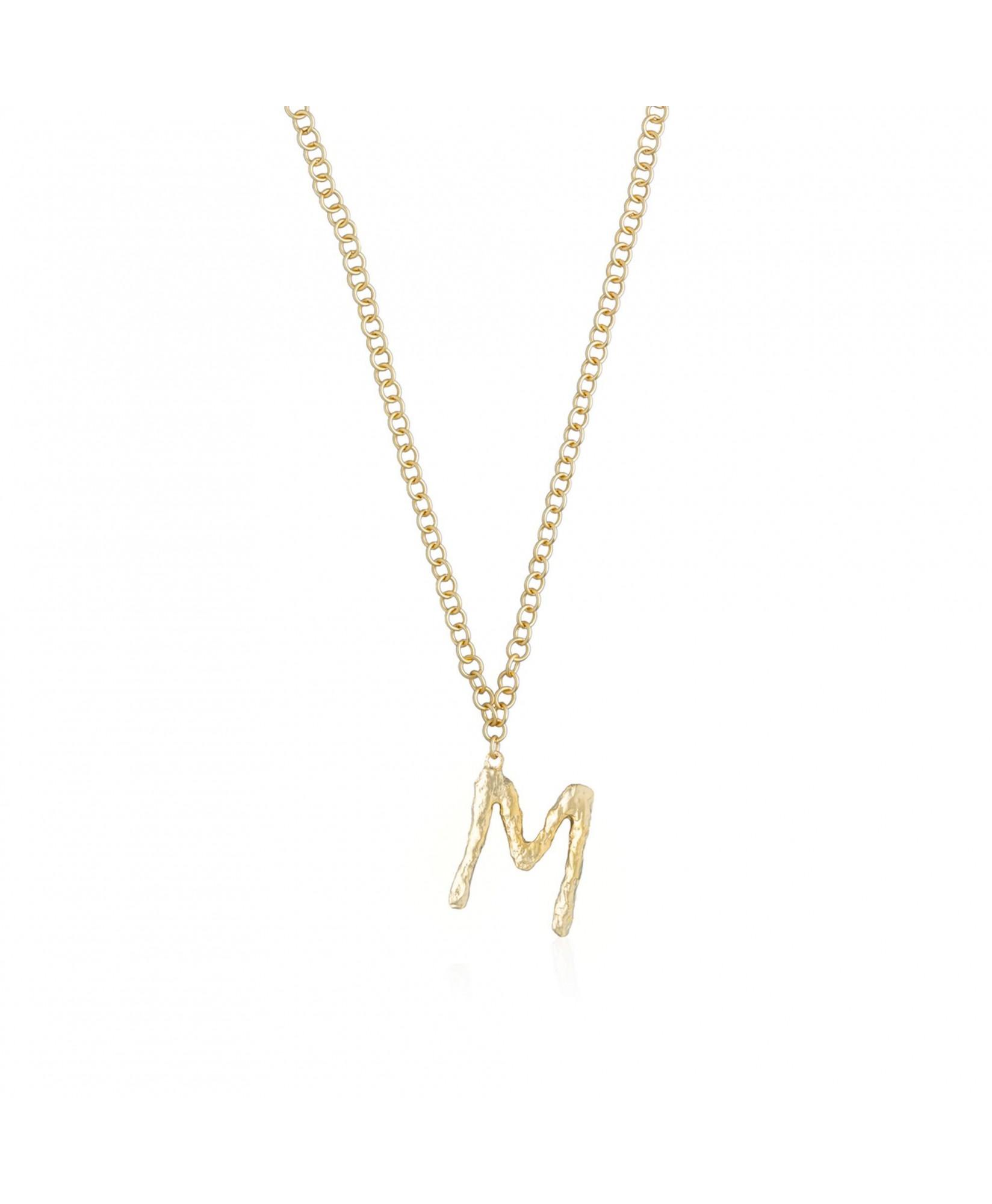 Collar con colgante letra M oro Collar con colgante letra M oro