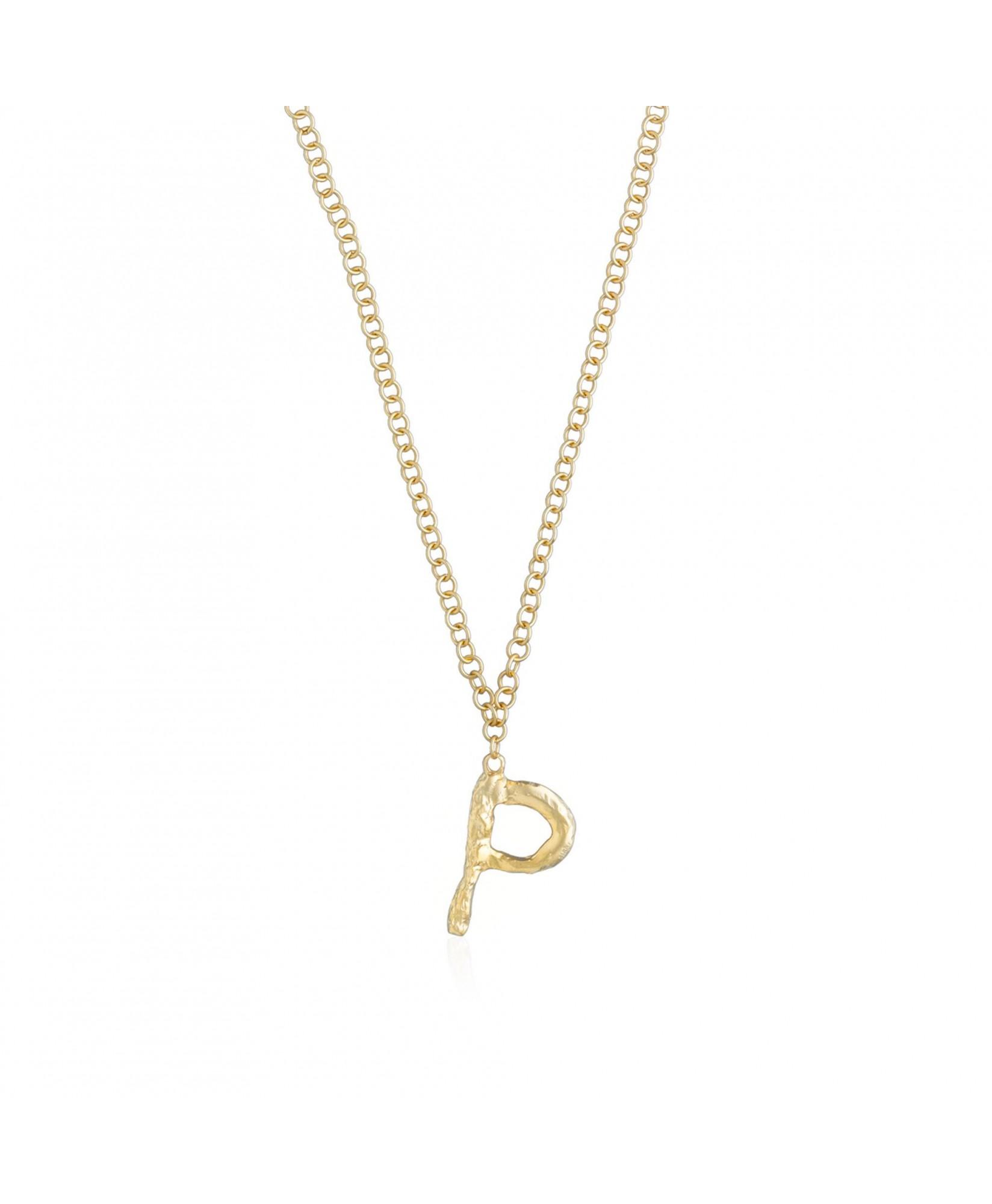 Collar letra P oro Collar letra P oro