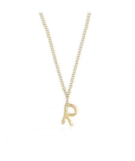 Collar letra R oro