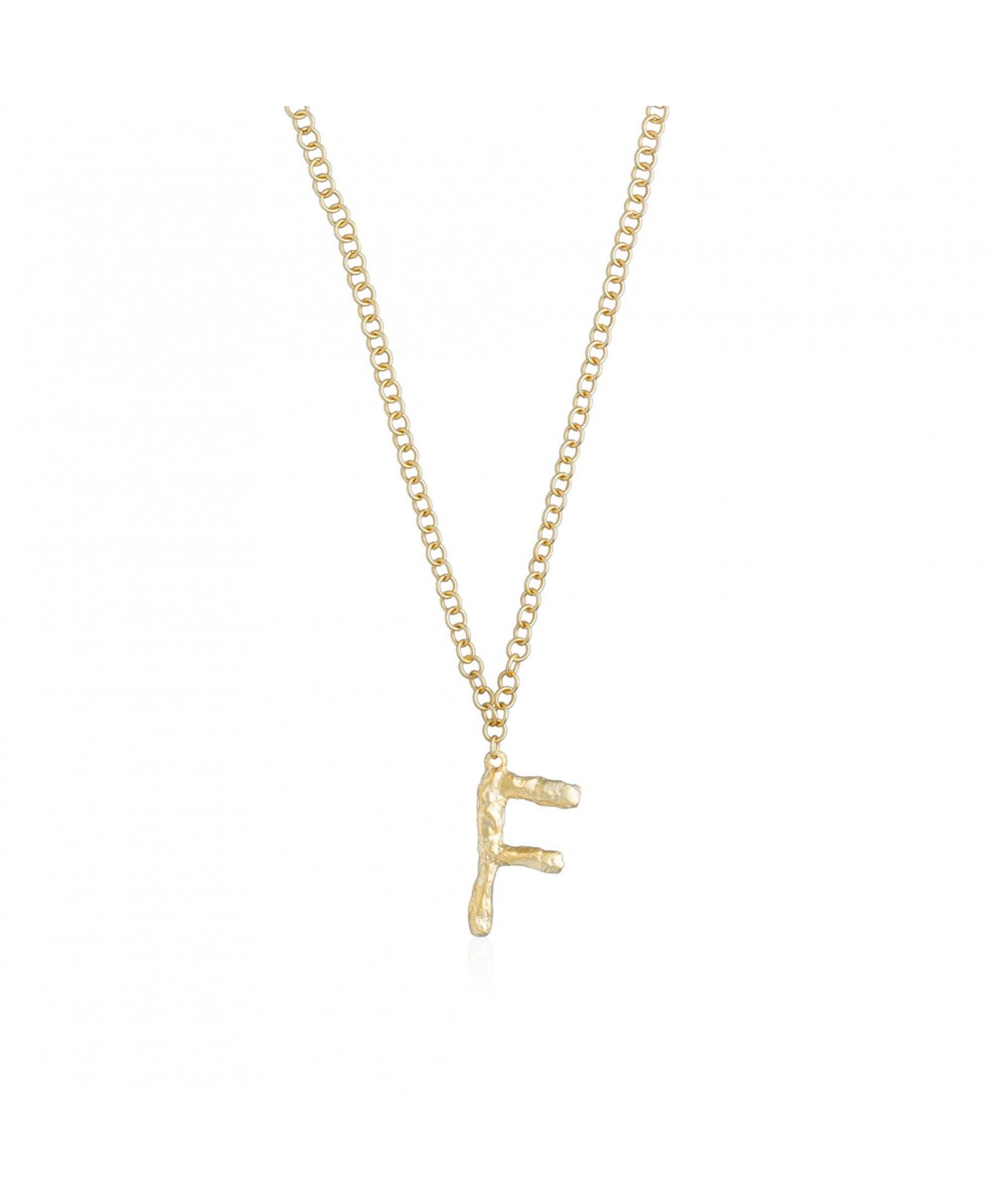 Collar con inicial oro letra F Collar con inicial oro letra F