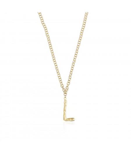 Collar letra L oro