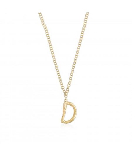 Collar letra D oro