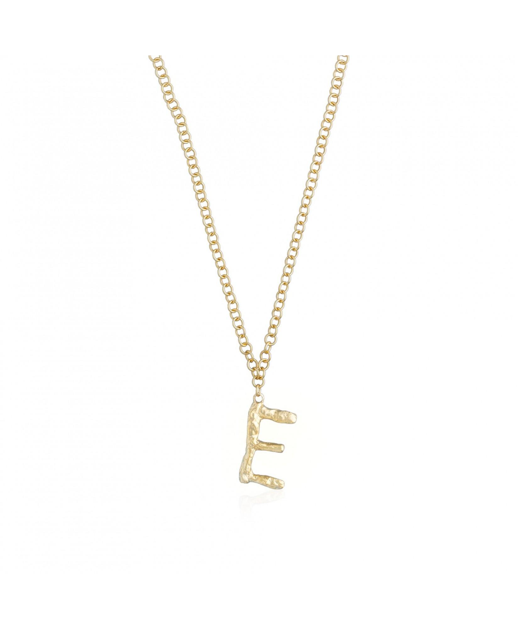 Collar letra E oro Collar letra E oro
