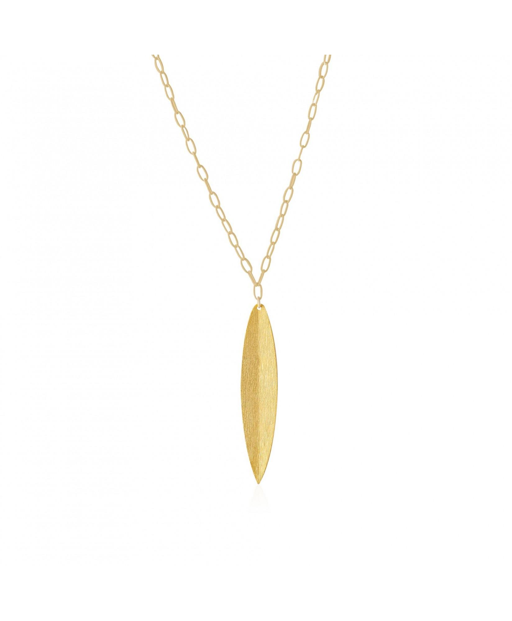 Collar oro con colgante hoja Naturaleza Collar oro con colgante hoja Naturaleza