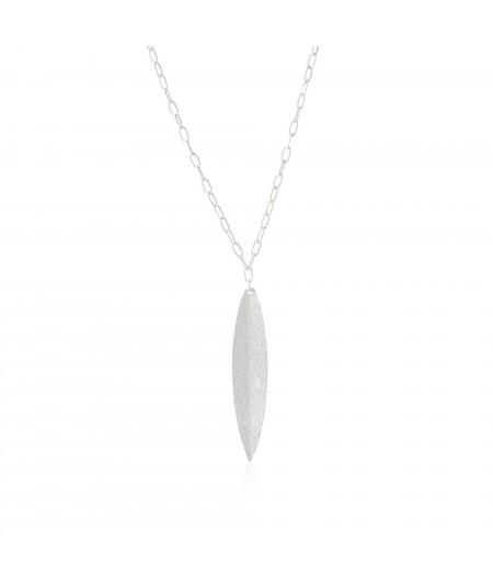 Collar de plata con colgante hoja Naturaleza