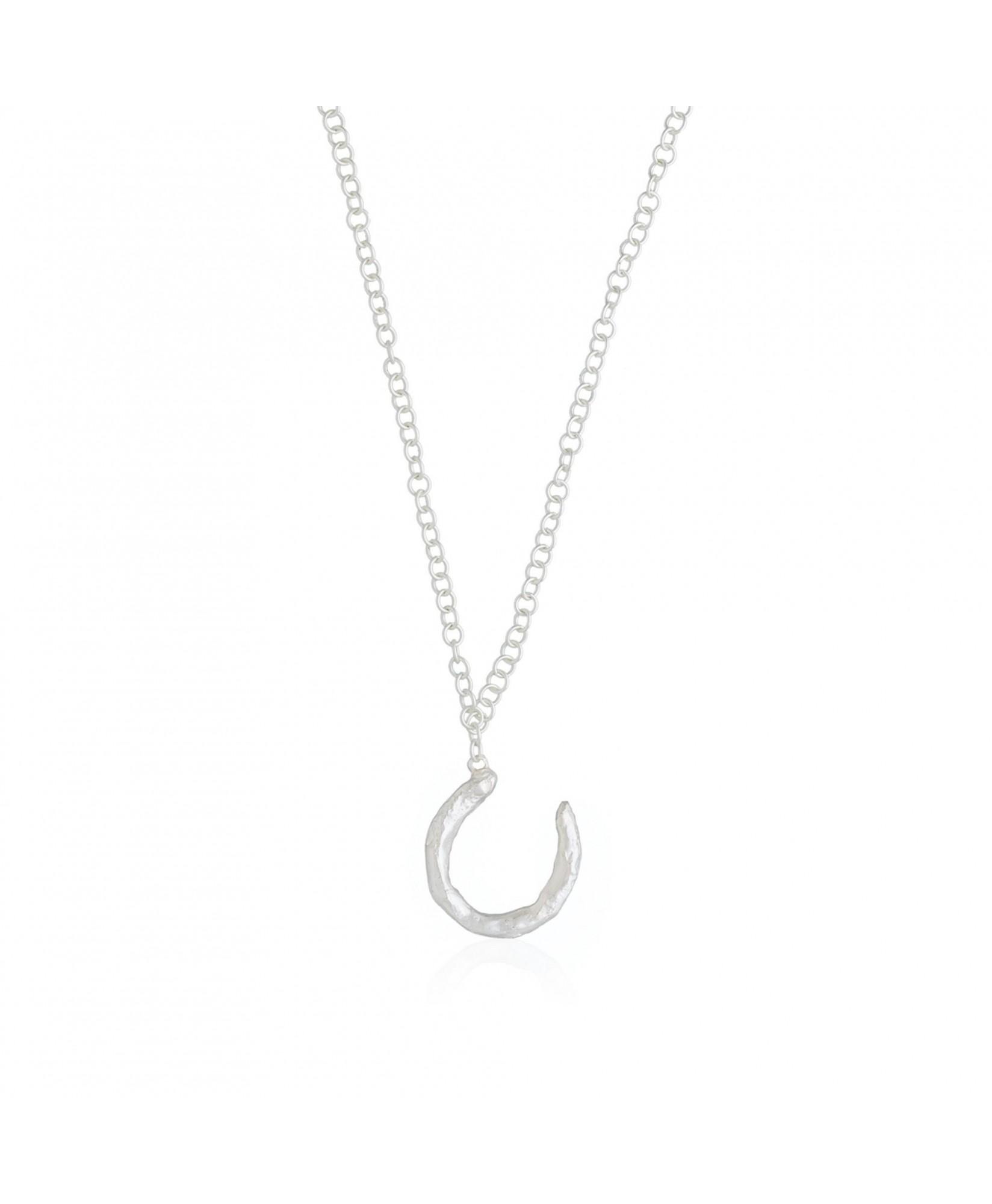 Collar plata con colgante de inicial letra U Collar plata con colgante de inicial letra U