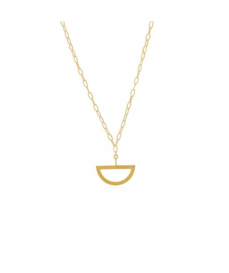 Collar oro con colgante semicircular Balancín