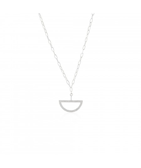 Collar de plata con colgante semicircular Balancín