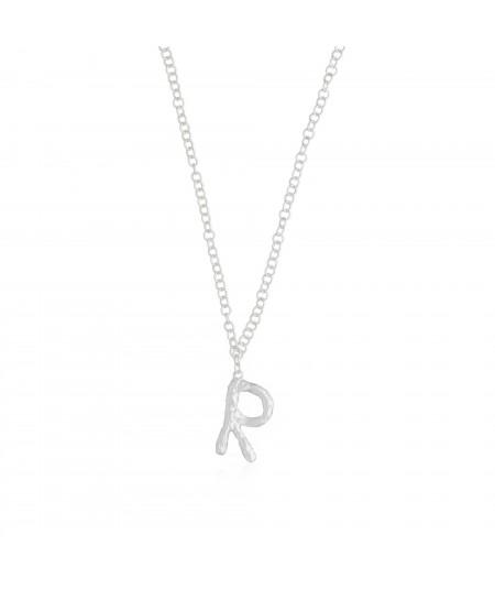 Collar letra R plata