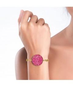 Pulsera oro Atenea con nácar rosa