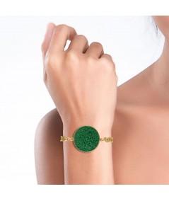 Pulsera oro Demeter con nácar verde