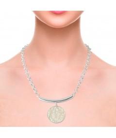 Collar en plata con colgante nácar blanco Afrodita