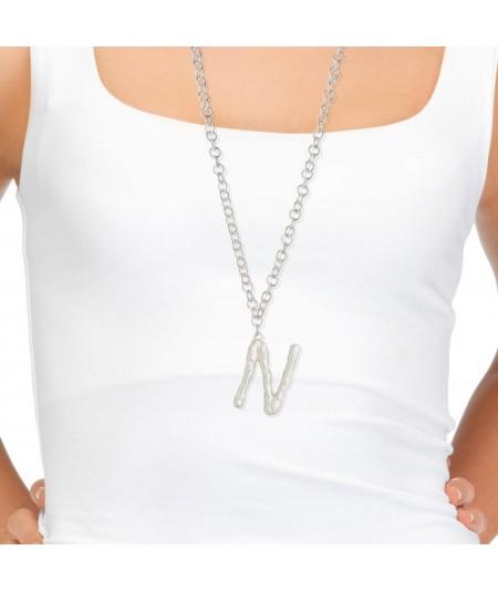 Collar plata letra N