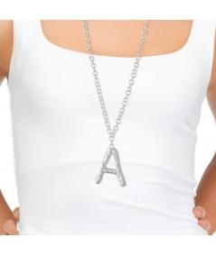 Collar letra A plata