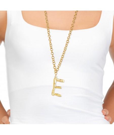 Collar letra E oro
