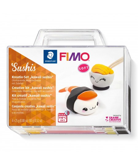 """FIMO soft - Set Kawai """"Sushis"""""""
