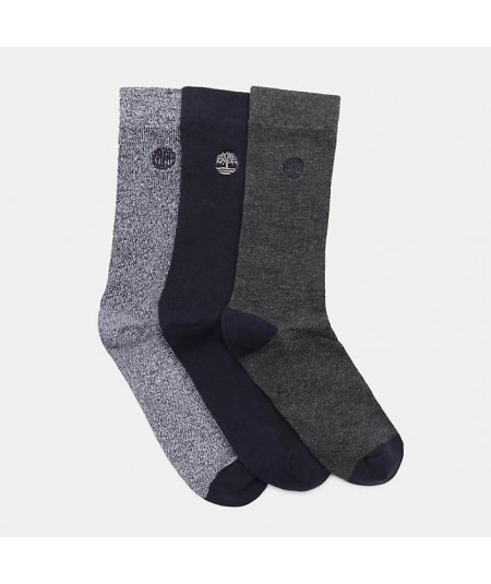 3 PARES DE CALCETINES MARLED RIBBED CREW