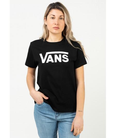 Camiseta clásica de vans color negra , manga corta