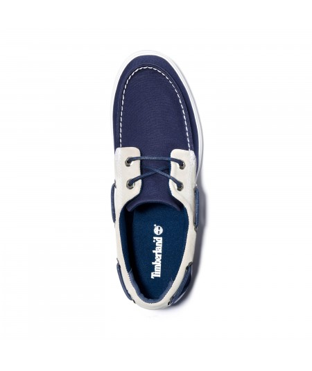 2-EYE BOAT LEATHER AND FABRIC OXFORD UNION WHARF PARA HOMBRE EN AZUL